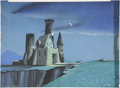 animation art:Production Cel, Loeb Animation Background Painting Original Art (undated)....