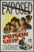 "Movie Posters:War, Prison Ship (Columbia, 1945). One Sheet (27"" X 41""). War.. ..."