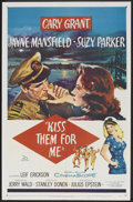 """Movie Posters:Comedy, Kiss Them for Me (20th Century Fox, 1957). One Sheet (27"""" X 41"""").Comedy.. ..."""