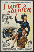 """Movie Posters:Drama, I Love a Soldier (Paramount, 1944). One Sheet (27"""" X 41""""). Drama.. ..."""