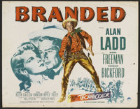 """Branded (Paramount, 1951). Half Sheet (22"""" X 28"""") Style A. Western"""