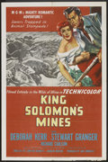 "Movie Posters:Adventure, King Solomon's Mines (MGM, 1950). One Sheet (27"" X 41"").Adventure.. ..."