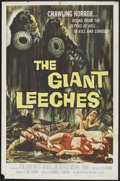 "Movie Posters:Horror, The Giant Leeches (American International, 1959). One Sheet (27"" X 41""). Horror.. ..."