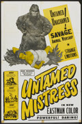 "Movie Posters:Cult Classic, Untamed Mistress (Howco, 1956). One Sheet (27"" X 41""). CultClassic.. ..."
