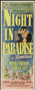 "Movie Posters:Comedy, A Night in Paradise (Universal, 1946). Insert (14"" X 36""). Comedy.. ..."