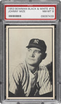 Baseball Cards:Singles (1950-1959), 1953 Bowman Black & White Johnny Mize #15 PSA NM-MT 8....