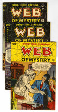 Golden Age (1938-1955):Horror, Web of Mystery #3, 4 and 6 Group (Ace, 1951).... (Total: 3 ComicBooks)