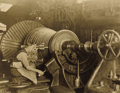Photography :20th Century , LEWIS WICKES HINE (American, 1874-1940). Mechanic and Turbine, General Electric Company, 1925-1935. Vintage gelatin silv...