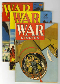 War Stories #6-8 Group (Dell, 1942-43).... (Total: 3 Comic Books)