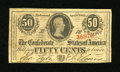 Confederate Notes:1863 Issues, T63 50 Cents 1863....