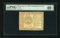 Colonial Notes:Continental Congress Issues, Continental Currency January 14, 1779 $80 PMG Extremely Fine 40EPQ....