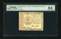 Colonial Notes:Continental Congress Issues, Continental Currency January 14, 1779 $70 PMG Choice Uncirculated64....