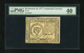 Colonial Notes:Continental Congress Issues, Continental Currency February 26, 1777 $8 PMG Extremely Fine 40....