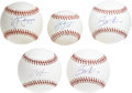 Autographs:Baseballs, Modern MLB Stars Singles Signed Baseballs Lot of 5. Five singlescome to is here by way of some of the game's modern stars....