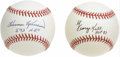 Autographs:Baseballs, George Kell and Harmon Killebrew Single Signed InscriptionBaseballs Lot of 2. A pair of Cooperstown sluggers each apply th...