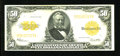 Large Size:Gold Certificates, Fr. 1200 $50 1922 Gold Certificate About Extremely Fine....