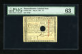 Colonial Notes:Massachusetts, Massachusetts May 5, 1780 $7 PMG Choice Uncirculated 63....