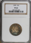 Proof Barber Quarters, 1909 25C PR65 NGC....