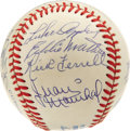 Autographs:Baseballs, Baseball Hall of Famers Ball with 14 Signatures. Brilliant Hall ofFame ball signed by a total of 13 of Cooperstown's elect...
