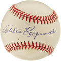 Autographs:Baseballs, Allie Reynolds Single Signed Baseball. A pitcher who reached thetop echelon of his trade as a New York Yankee, Allie Reyno...