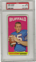Football Cards:Singles (1960-1969), 1965 Topps Jack Kemp #35 PSA EX-MT 6. From pro quarterback to US politician, Jack Kemp has led in many different situations...