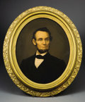 Military & Patriotic:Civil War, Abraham Lincoln Chromolithograph Portrait by E. C. Middleton. This chromolithograph of Abraham Lincoln is dated both 1863 an...