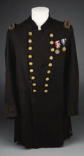 Military & Patriotic:Civil War, Union Medical Officer's Frock Coat with Interesting Shoulder Boards. This Civil War Union officer's frock coat has two rows ...