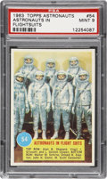 "Non-Sport Cards:Singles (Post-1950), 1963 Topps Astronauts #54 ""Astronauts In Flight Suits"" PSA Mint9...."