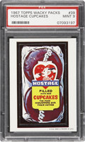 "Non-Sport Cards:Singles (Post-1950), 1967 Topps Wacky Packs #39 ""Hostage Cupcakes"" PSA Mint 9 - Pop1-of-1 With None Higher!..."