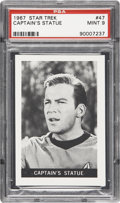"Non-Sport Cards:Singles (Post-1950), 1967 Leaf Star Trek #47 ""Captain's Statue"" PSA Mint 9...."