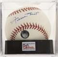 Autographs:Baseballs, Willie Mays Single Signed Baseball PSA Mint 9....