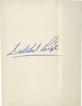 Autographs:Index Cards, Satchel Paige Signed Index Card....