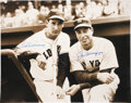 Autographs:Photos, Ted Williams And Joe DiMaggio Multi Signed Oversized Photograph....