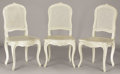 Furniture : French, A SET OF SIX FRENCH LOUIS XV-STYLE WHITE-PAINTED SIDE CHAIRS. 20thCentury. 39 inches (99.1 cm) high, each. ... (Total: 6 Coins Items)