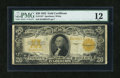 Large Size:Gold Certificates, Fr. 1187 $20 1922 Gold Certificate PMG Fine 12....