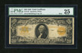 Large Size:Gold Certificates, Fr. 1187 $20 Mule 1922 Gold Certificate PMG Very Fine 25....
