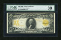 Large Size:Gold Certificates, Fr. 1186 $20 1906 Gold Certificate PMG Very Fine 30....