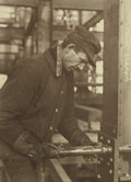 Photography :20th Century , LEWIS WICKES HINE (American, 1874-1940). Workman Securing a Rivet, circa 1931. Vintage gelatin silver, circa 1931. Paper...