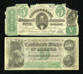 Confederate Notes:Group Lots, Two Confederate Replica Notes.. T-33 $5 1861.. T-64 $500 1864.. ...(Total: 2 items)