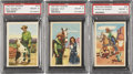 Non-Sport Cards:Lots, 1952 Post Cereal Roy Rogers PSA NM-MT 8 Trio (3)....