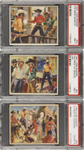 Non-Sport Cards:Lots, 1940 Gum Inc. R83 Lone Ranger PSA-Graded High-Number Trio (3)....