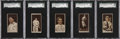 Baseball Cards:Lots, 1912 T207 Brown Background Baseball Collection (21)....