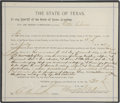 """Western Expansion:Cowboy, Sheriff's Warrant, Dated July 5, 1897, for the Arrest of EttaClarke. 6¾"""" x 7 7/8""""..."""