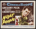 "Movie Posters:Adventure, Night People (20th Century Fox, 1954). Lobby Card Set of 8 (11"" X14""). Adventure.. ... (Total: 8 Items)"
