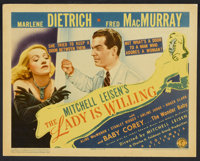 """The Lady is Willing (Columbia, 1942). Title Card and Lobby Cards (6) (11"""" X 14""""). Comedy. ... (Total: 7 Items)"""
