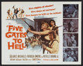 "Movie Posters:War, Five Gates to Hell (20th Century Fox, 1959). Lobby Card Set of 8(11"" X 14""). War.. ... (Total: 8 Items)"
