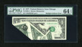 Error Notes:Foldovers, Fr. 1909-G $1 1977 Federal Reserve Note. PMG Choice Uncirculated 64EPQ.. ...