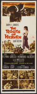 "Movie Posters:Adventure, The Roots of Heaven (20th Century Fox, 1958). Insert (14"" X 36"")and Lobby Cards (2) (11"" X 14""). Adventure.. ... (Total: 3 Items)"
