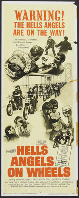 "Hells Angels on Wheels (U.S. Films Inc., 1967). Insert (14"" X 36""). Cult Classic"