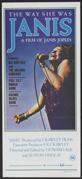 """Movie Posters:Rock and Roll, Janis (Cinema International, 1975). Australian Daybill (13"""" X 29"""").Rock and Roll.. ..."""